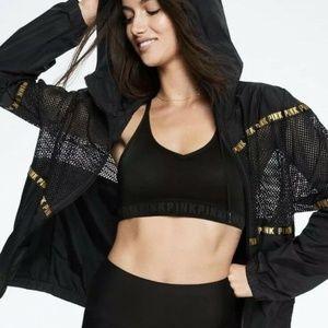 new VICTORIA'S SECRET PINK mesh anorak jacket m